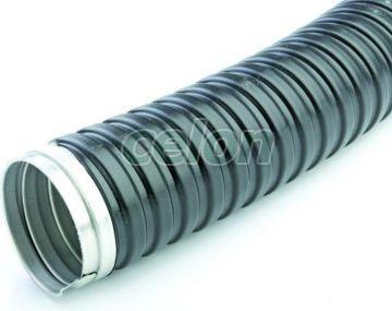 Tub flexibil metal spiralat cu izolatie plastic 16 mm  - Viko, Materiale si Echipamente Electrice, Tuburi rigide, tuburi flexibile pvc si metal, Tuburi flexibile copex metal, Viko