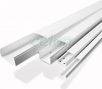 Canal de cablu Pvc 80 mm x 40 mm x 2 m  - Strohm, Materiale si Echipamente Electrice, Pat cabluri metalice si pvc, Pat cabluri pvc, canale cabluri, Strohm