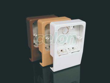 Doza de aparat Pvc 40 mm x 20 mm x  - Kopos, Materiale si Echipamente Electrice, Doze electrice, Doze pentru canal de cablu, Kopos