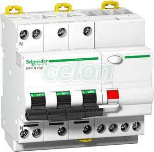 Siguranta automata cu protectie diferentiala Acti9 DPN N Vigi 3P+N 25A 6 kA C A9D41725  - Schneider Electric, Aparataje modulare, Protectie diferentiala, Disjunctoare cu protecţie diferenţială, Schneider Electric