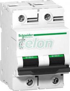 Siguranta automata  Acti9  C120N 2P 100A 10 kA C A9N18362  - Schneider Electric, Aparataje modulare, Sigurante automate, Sigurante bipolare 2P, Schneider Electric