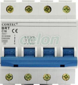 Siguranta AutomAta 4P Brl 20A 4.5kA C, Aparataje, Sigurante automate, Sigurante tetrapolare 4P, 3P+N, Comtec