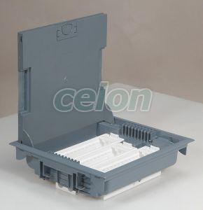 Doza Pard 18M Capac Inox 089610-Legrand, Materiale si Echipamente Electrice, Sisteme de canale, instalatii in pardoseala, coloane si minicoloane, Sisteme de canale, instalatii in pardoseala, coloane si minicoloane DLP - Legrand, Doze de pardoseală Legrand, Legrand