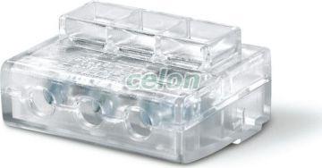 Clema cablu de capat 3x6mm2 CONNECTO 817.0603  - Scame, Materiale si Echipamente Electrice, Elemente de conexiune si auxiliare, Conexiuni, cleme şir, Conexiuni cu şurub, Scame