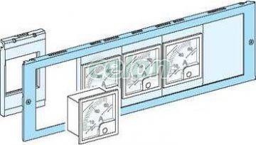 Kivágott homloklap műszer szerelőlapokhoz 03904 - Schneider Electric, Energiaelosztás és szerelés, Ipari és lakáselosztók, Kisfeszültségű funkcionális szekrényrendszer - Prisma Plus, Schneider Electric