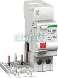Bloc protectie diferentiala Vigi c60 2P 25A 300 mA AC 26583  - Schneider Electric, Aparataje modulare, Protectie diferentiala, Blocuri cu protecţie diferenţială, Schneider Electric