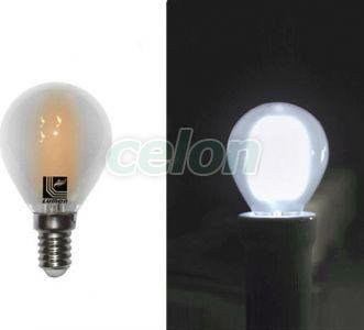 Ledes izzó COG Gömb formájú E14 4W Fehér Hideg fehér 5800k 230V - Lumen, Fényforrások, LED fényforrások és fénycsövek, LED kisgömb izzók, Lumen