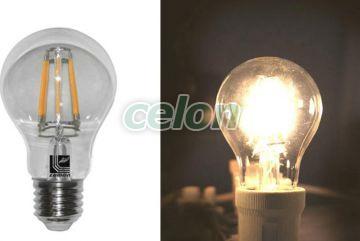 Ledes izzó COG Para E27 6W Átlátszó Meleg Fehér 2800k 230V - Lumen, Fényforrások, LED fényforrások és fénycsövek, LED normál izzók, Lumen