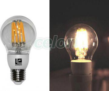 Ledes izzó COG Para Szabályozható E27 8W Átlátszó Meleg Fehér 2800k 230V - Lumen, Fényforrások, LED fényforrások és fénycsövek, LED normál izzók, Lumen
