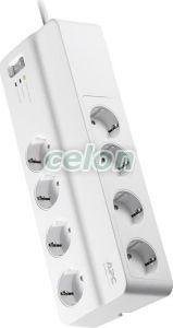 Prepaťová ochrana prodlužovací kabel 1.8 m 8 zásuviek 3x1mm2 PM8-GR - Schneider Electric, Dom a záhrada, Klasické predlžovacie prívody, Prepaťová ochrana prodlužovací, Apc