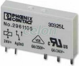 Phoenix Contact REL-MR- 24DC/21 Nyák relé 24 V/DC 6 A 1 váltó, Automatizálás és vezérlés, Ipari relék, Ipari relék és teljesítményrelék