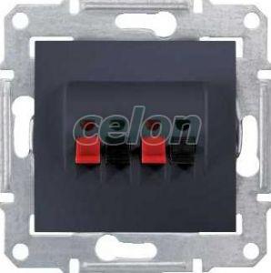 SEDNA Priza dubla difuzor Grafit SDN5400170 - Schneider Electric, Prize - Intrerupatoare, Gama Sedna - Schneider Electric, Sedna - Grafit, Schneider Electric