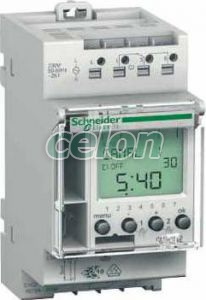 Temporizator orar digital modular Ihp 2c ACTI 9 CCT15452  - Schneider Electric, Aparataje modulare, Programatoare, Programatoare modulare, Schneider Electric
