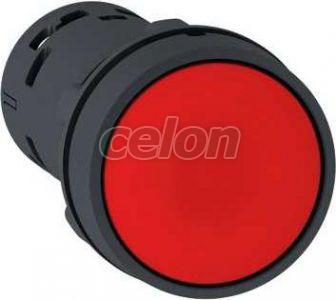Nyomógomb, rugós, piros, NO+NC XB7NA45 - Schneider Electric, Automatizálás és vezérlés, Müködtető- és jelzőkészülékek, Műanyag vázas nyomógombok, kapcsolók, jelzőlámpák, Műanyag öntötházas nyomógombok