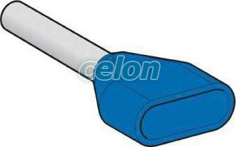 Pin Terminal Cablu 2X0,75Mm*2 - Albastru AZ5DE007 - Schneider Electric, Materiale si Echipamente Electrice, Elemente de conexiune si auxiliare, Tuburi de capăt, Tuburi de capăt (cap terminal) duble, Schneider Electric
