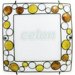 Fali/mennyezeti lámpa E27 2x60W szögletes fehér/barna/narancs Toleda 89324 Eglo, Világítástechnika, Beltéri világítás, Fali és mennyezeti lámpák