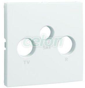 Fedlap R+TV+SAT csatlakozóhoz fehér 90775 TBR -Elko Ep, Egyéb termékek, Elko Ep, Logus90 szerelvénycsalád, Fedlapok, Elko EP