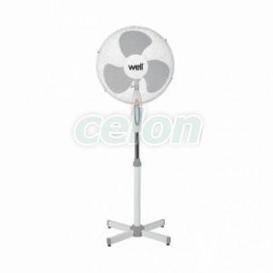 Talpas ventillátor 1.3m 45w Well, Ház és Kert, Fali és padló ventilátorok, szellőzőrácsok