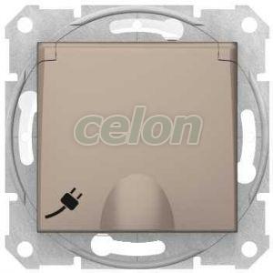 Priza 2P+E, Obt. Capac 16A, Ip44, Titan SDN3100368 - Schneider Electric, Prize - Intrerupatoare, Gama Sedna - Schneider Electric, Sedna - Titan, Schneider Electric