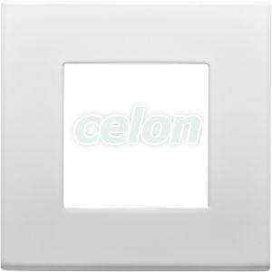 Plate 2-Gang White GW35901AW - Gewiss, Alte Produse, Gewiss, Domestice, Dahlia, Gewiss