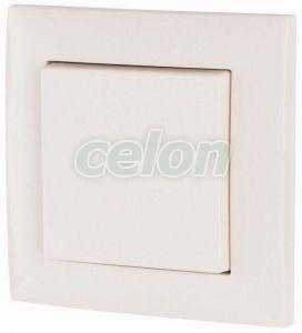 Single push-button set, 55mm, gloss white RAL9010 CPAD-00/193 -Eaton, Egyéb termékek, Eaton, xComfort termékek, Eaton
