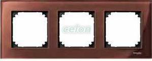Rama 3 posturi M-ELEGANCE Maro mahon Sticla 4030-3215  - Merten, Prize - Intrerupatoare, Game Merten, Merten - System M, Rame de sticla M-Elegance, Merten