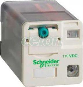Releu de interfata  - zelio rum - 2 c/o - 110 v c.c. - 10 a - cu led - Relee de interfata - Zelio relaz - RUMC2AB2FD - Schneider Electric, Automatizari Industriale, Relee de interfata, masura si control, Relee de interfata, Schneider Electric