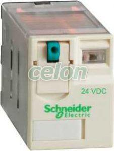 Releu de interfata - zelio rpm - 2 c/o - 24 v c.c. - 15 a - Relee de interfata - Zelio relaz - RPM21BD - Schneider Electric, Automatizari Industriale, Relee de interfata, masura si control, Relee de interfata, Schneider Electric