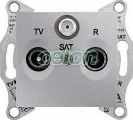 SEDNA TV-R-SAT aljzat végzáró 1 db IP20 Alumínium SDN3501360 - Schneider Electric, Kapcsolók - Konnektorok, Sedna kapcsolócsalád - Schneider Electric, Sedna - Alumínium, Schneider Electric