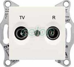 SEDNA Priza intermediara TV/R 8 db IP20 Crem SDN3301323 - Schneider Electric, Prize - Intrerupatoare, Gama Sedna - Schneider Electric, Sedna - Crem, Schneider Electric