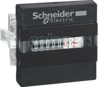Contor orar - afișaj mecanic cu 7 cifre - 24 v c.a. - Contoare multifunctionale - Zelio count - XBKH70000004M - Schneider Electric, Automatizari Industriale, Contoare multifunctionale, Schneider Electric