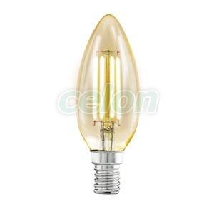 Ledes Dekor izzó 1x4W E14 Meleg Fehér 2200k - Eglo, Fényforrások, LED Vintage Edison dekor izzók, Eglo