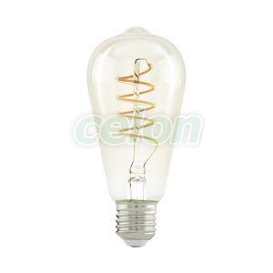 Bec Led Decorativ 1x4W E27 Alb Cald 2200k - Eglo, Surse de Lumina, Lampi LED Vintage Edison, Eglo