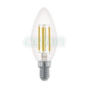 LED izzó 1x3.5W E14 2700k 11704 - Eglo, Fényforrások, LED fényforrások és fénycsövek, LED Gyertya izzók, Eglo