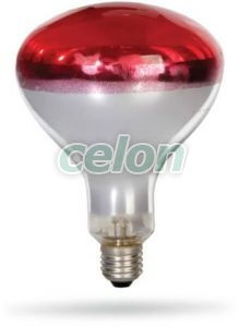 Bec infrarosu 150W E27 - Delux, Surse de Lumina, Lampi cu infrarosu, Delux
