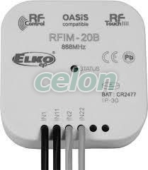 Wireless switch unit (inbuilt) - 2 outputs RFSA-62B. -Elko Ep, Alte Produse, Elko Ep, iNELS RF Control >Wireless control, Întrerupătoare, Elko EP