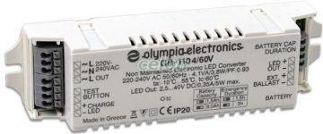 Converter for LED with battery 4,8V 1,5Ah, Surse de Lumina, Transformatoare, drosere, drivere, Transformatoare pentru Leduri, Olympia Electronics