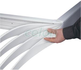 Dlp, Capac Flex. 130, Alb, 2M 010524-Legrand, Materiale si Echipamente Electrice, Sisteme de canale, instalatii in pardoseala, coloane si minicoloane, Sisteme de canale, instalatii in pardoseala, coloane si minicoloane DLP - Legrand, Jgheaburi compartimentabile DLP, Legrand