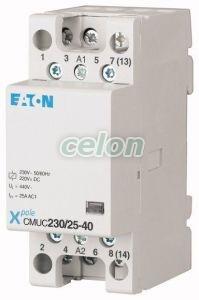 installációs kontaktor, 4z, 25A, 230V AC/DC CMUC230/25-40 -Eaton, Moduláris készülékek, Installációs kontaktorok, Eaton