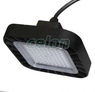 Lumin. BOX clopot cu LED 50W 4000k IP65 230V negru, Corpuri de Iluminat, Iluminat hale industriale, Adeleq