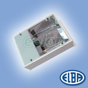 Corp iluminat industrial PREMIUM LUX 250W sodiu cu gratar montaj incastrat IP66 34661004 Elba, Corpuri de Iluminat, Iluminat hale industriale, Elba