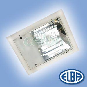 Corp iluminat industrial PREMIUM LUX 250W sodiu cu gratar montaj aparent IP66 34661003 Elba, Corpuri de Iluminat, Iluminat hale industriale, Elba