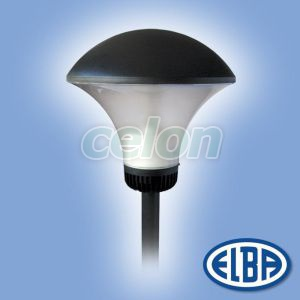 Corp iluminat pietonal de exterior RAINBOW 1x125W mercur cu dispersor transparent IP65 33421843 Elba, Corpuri de Iluminat, Iluminat urban, pietonal, Elba