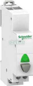 Buton modular 20A Gri - Verde 1 no A9E18036  - Schneider Electric, Aparataje modulare, Butoane modulare, Schneider Electric