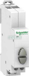 Buton modular 20A Gri 1 no + 1 nc A9E18034  - Schneider Electric, Aparataje modulare, Butoane modulare, Schneider Electric