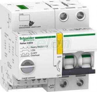 ACTI9 Reflex iC60N beépített megszakító vezérlés, 2P, C, 10A A9C62210 - Schneider Electric, Moduláris készülékek, Reflex kioldórendszeres kismegszakítók, Schneider Electric
