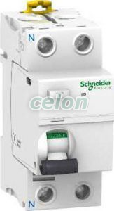 Siguranta automata cu protectie diferentiala Iid, Acti9 2P 63A 30 mA 10 kA A A9R21263  - Schneider Electric, Aparataje, Protectie diferentiala, Disjunctoare cu protecţie diferenţială, Schneider Electric