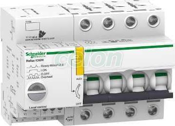 ACTI9 Reflex iC60N beépített megszakító vezérlés, 4P, B, 10A A9C61410 - Schneider Electric, Moduláris készülékek, Reflex kioldórendszeres kismegszakítók, Schneider Electric