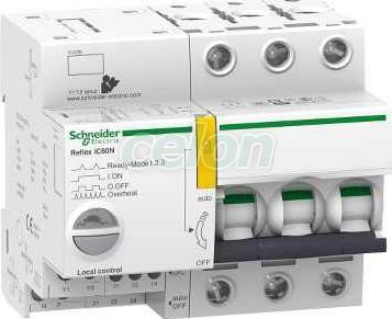 ACTI9 Reflex iC60H beépített megszakító vezérlés, 3P, D, 10A A9C66310 - Schneider Electric, Moduláris készülékek, Reflex kioldórendszeres kismegszakítók, Schneider Electric