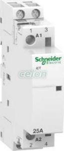 Contactor modular pe sina 4P 25A ICT 220/240 v c.a. 50 hz A9C20838  - Schneider Electric, Aparataje modulare, Contactoare pe sina, Schneider Electric
